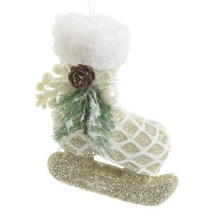 Shoes Set 6 Decoratiuni suspendabile, Textil, Alb