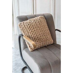Spiral Perna decorativa, Textil, Bej