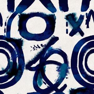 Spontaneus Blue Set 3 role tapet, Netesut, Multicolor