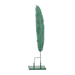 Stalk Decoratiune pana mica, Metal, Verde