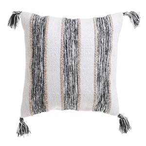 Stripe Perna decorativa, Textil, Bej