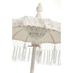Tass Decoratiune Umbrela soare, Bumbac, Crem
