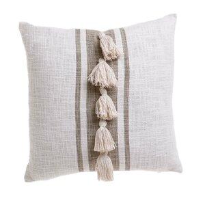 Tassel Perna decorativa, Textil, Bej