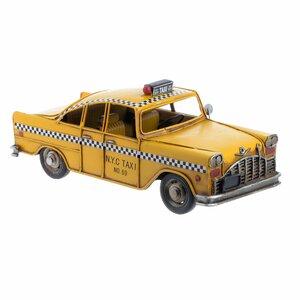 Taxi Miniatura, Metal, Galben