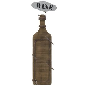 Wine Suport Sticle, Lemn, Maro