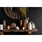 Zebra Vaza decorativa, Ceramica, Maro