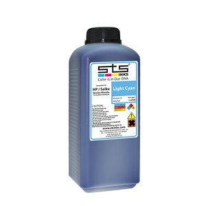 Cerneală STS low solvent, bidon 1L, compatibil HP 9000 | HP10000 | Seiko 64 Light Cyan