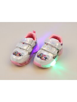 Adidasi cu LED Minnie roz