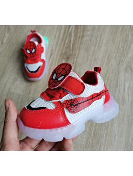 Adidasi cu LED Spiderman