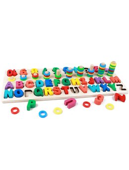 Alphanumeric Pairing joc lemn 3 in 1 litere si cifre