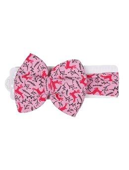 Bentita elastica roz cu cerbi