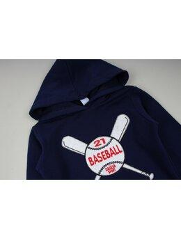Bluzita vatuita baseball bleumarin