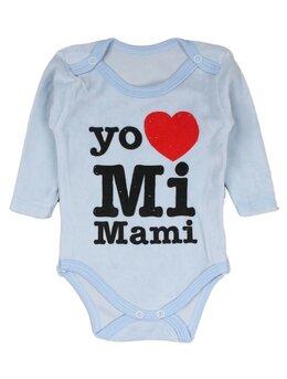 Body catifea bleu I love mi Mami