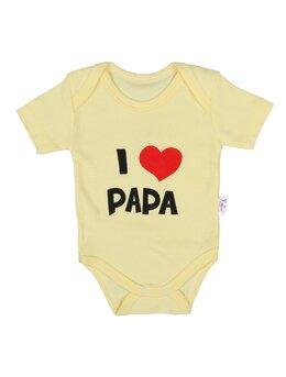 Body ms I LOVE PAPA galben