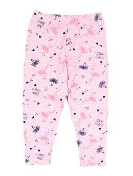 Colanti roz cu flamingo