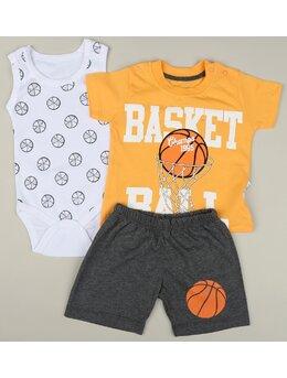 Compleu 3 piese Basket Ball model galben