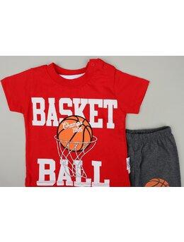 Compleu 3 piese Basket Ball model rosu