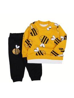 Compleu albinuțe 2 piese model galben