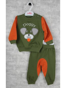 Compleu Doggy verde-portocaliu