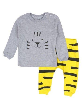Compleu galben 2 piese tigre