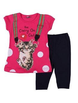 Compleu girl cat model ciclam