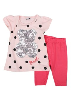 Compleu girl urs paiete model coral