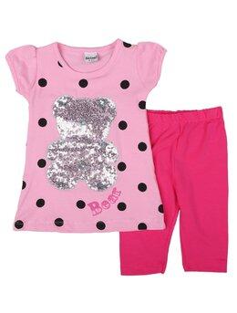 Compleu girl urs paiete model roz