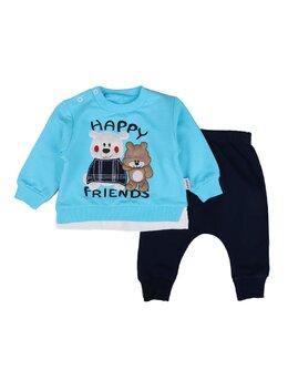 Compleu Happy bears model turcoaz