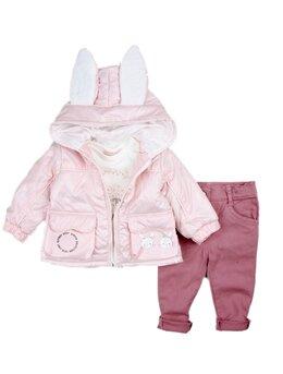 Compleu iepurica fetita roz