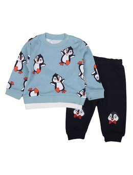 Compleu pinguin 2 piese model bleu