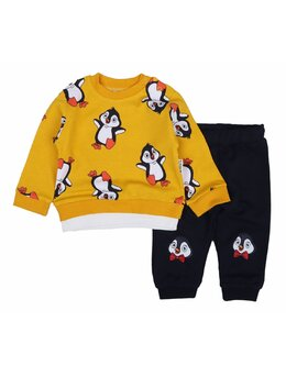 Compleu pinguin 2 piese model galben