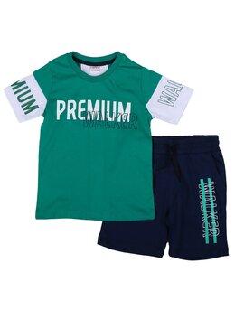 Compleu premium verde-alb