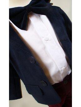 Costum baietei botez sacou bleumarin