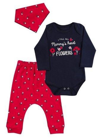 Costumas FLOWERS rosu