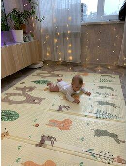 Covoras de joaca pliabil cu 2 fete XPE bebelusi model 2