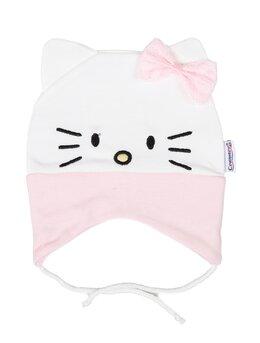 Fes bumbac hello kitty model alb fundita roz
