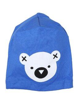 Fes cu cap de ursulet model albastru