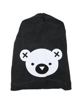 Fes cu cap de ursulet model negru