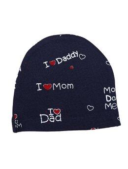 Fes I love Dad Mom bleumarin