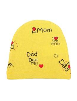 Fes I love Dad Mom galben