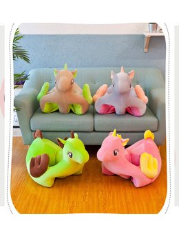 Fotoliu bebelusi unicorn roz