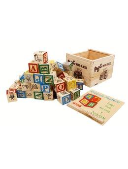 Joc din lemn costructie cuburi
