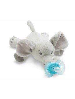 Jucarie de plus Elefant cu suzeta ultra soft Philips Avent, SCF348/13, 0-6 luni