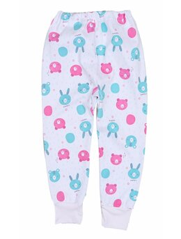 Pantalonasi de pijama ursuleti roz-verde