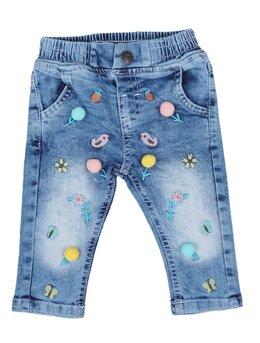 Pantaloni de blug cu floricele și ciucurasi