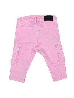 Pantaloni de blug pătați cargo roz