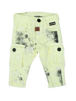 Pantaloni de blug pătați cargo verde aprins