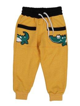 Pantaloni de trening crocodil galben