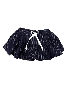 Pantaloni scurti tip fustita model bleumarin buline