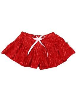 Pantaloni scurti tip fustita model rosu buline